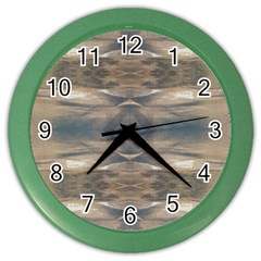 Wildlife Wild Animal Skin Art Brown Black Wall Clock (color) by yoursparklingshop