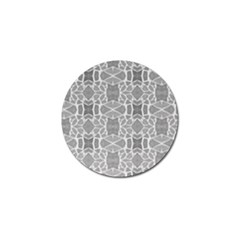 Grey White Tiles Geometry Stone Mosaic Pattern Golf Ball Marker 10 Pack by yoursparklingshop