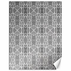 Grey White Tiles Geometry Stone Mosaic Pattern Canvas 12  X 16  (unframed) by yoursparklingshop