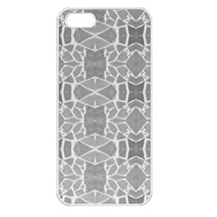 Grey White Tiles Geometry Stone Mosaic Pattern Apple Iphone 5 Seamless Case (white)