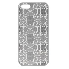 Grey White Tiles Geometry Stone Mosaic Pattern Apple Seamless Iphone 5 Case (clear) by yoursparklingshop