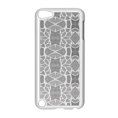 Grey White Tiles Geometry Stone Mosaic Pattern Apple Ipod Touch 5 Case (white) by yoursparklingshop