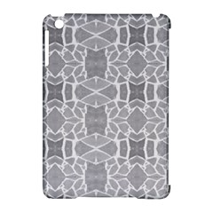 Grey White Tiles Geometry Stone Mosaic Pattern Apple Ipad Mini Hardshell Case (compatible With Smart Cover) by yoursparklingshop