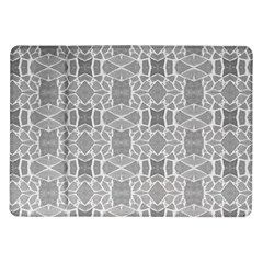 Grey White Tiles Geometry Stone Mosaic Pattern Samsung Galaxy Tab 10 1  P7500 Flip Case by yoursparklingshop