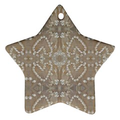 Love Hearts Beach Seashells Shells Sand  Star Ornament (two Sides) by yoursparklingshop