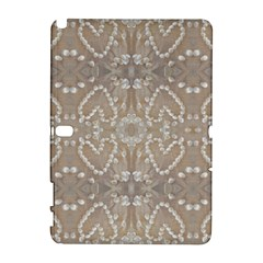 Love Hearts Beach Seashells Shells Sand  Samsung Galaxy Note 10 1 (p600) Hardshell Case by yoursparklingshop