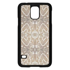 Love Hearts Beach Seashells Shells Sand  Samsung Galaxy S5 Case (black) by yoursparklingshop