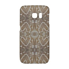 Love Hearts Beach Seashells Shells Sand  Samsung Galaxy S6 Edge Hardshell Case by yoursparklingshop