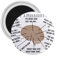 Atlas Of A Podiatrist s Brain 3  Button Magnet