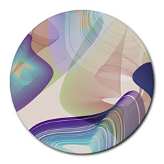 Abstract 8  Mouse Pad (round) by infloence