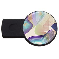 Abstract 2gb Usb Flash Drive (round) by infloence