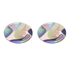 Abstract Cufflinks (oval) by infloence