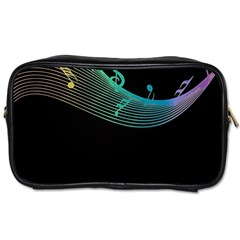 Musical Wave Travel Toiletry Bag (two Sides)