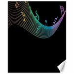 Musical Wave Canvas 11  x 14  (Unframed) 14 x11 Canvas - 1