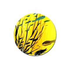 Yellow Dream Magnet 3  (round) by pwpmall