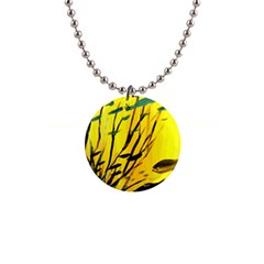 Yellow Dream Button Necklace