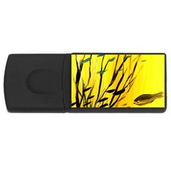 Yellow Dream 4gb Usb Flash Drive (rectangle) by pwpmall
