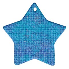 Textured Blue & Purple Abstract Star Ornament by StuffOrSomething