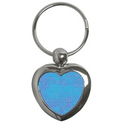 Textured Blue & Purple Abstract Key Chain (heart) by StuffOrSomething