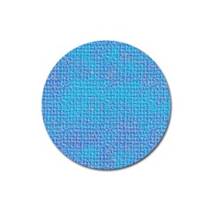 Textured Blue & Purple Abstract Magnet 3  (round) by StuffOrSomething