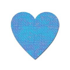 Textured Blue & Purple Abstract Magnet (heart) by StuffOrSomething