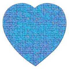 Textured Blue & Purple Abstract Jigsaw Puzzle (heart)