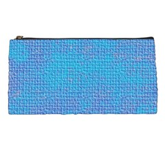 Textured Blue & Purple Abstract Pencil Case