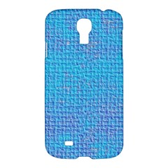 Textured Blue & Purple Abstract Samsung Galaxy S4 I9500/i9505 Hardshell Case by StuffOrSomething