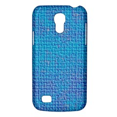 Textured Blue & Purple Abstract Samsung Galaxy S4 Mini (gt I9190) Hardshell Case  by StuffOrSomething