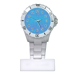 Textured Blue & Purple Abstract Nurses Watch