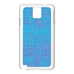 Textured Blue & Purple Abstract Samsung Galaxy Note 3 N9005 Case (white) by StuffOrSomething