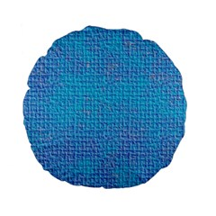 Textured Blue & Purple Abstract Standard 15  Premium Flano Round Cushion  by StuffOrSomething