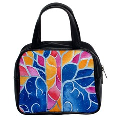 Yellow Blue Pink Abstract  Classic Handbag (two Sides) by OCDesignss