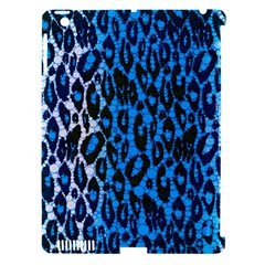 Florescent Blue Cheetah  Apple Ipad 3/4 Hardshell Case (compatible With Smart Cover) by OCDesignss