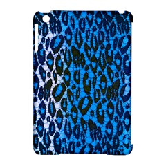 Florescent Blue Cheetah  Apple Ipad Mini Hardshell Case (compatible With Smart Cover) by OCDesignss