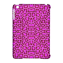 Florescent Pink Animal Print  Apple Ipad Mini Hardshell Case (compatible With Smart Cover) by OCDesignss