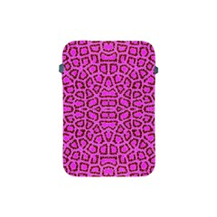 Florescent Pink Animal Print  Apple Ipad Mini Protective Sleeve by OCDesignss