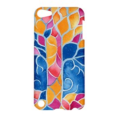Yellow Blue Pink Abstract  Apple Ipod Touch 5 Hardshell Case by OCDesignss