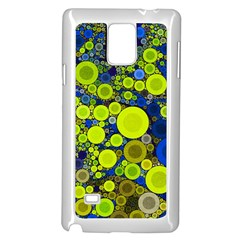 Polka Dot Retro Pattern Samsung Galaxy Note 4 Case (white) by OCDesignss