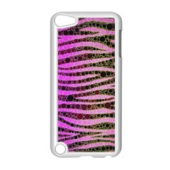 Hot Pink Black Tiger Pattern  Apple Ipod Touch 5 Case (white) by OCDesignss