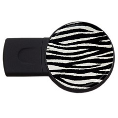 Black White Tiger  4gb Usb Flash Drive (round) by OCDesignss