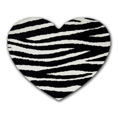 Black White Tiger  Mouse Pad (heart) by OCDesignss