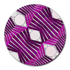 Crazy Beautiful Abstract  8  Mouse Pad (round) by OCDesignss
