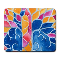 Yellow Blue Pink Abstract  Large Mouse Pad (rectangle) by OCDesignss