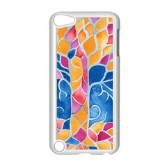 Yellow Blue Pink Abstract  Apple Ipod Touch 5 Case (white) by OCDesignss