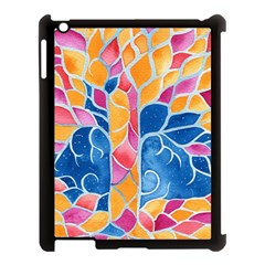Yellow Blue Pink Abstract  Apple Ipad 3/4 Case (black) by OCDesignss