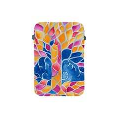 Yellow Blue Pink Abstract  Apple Ipad Mini Protective Sleeve by OCDesignss