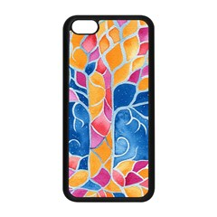 Yellow Blue Pink Abstract  Apple Iphone 5c Seamless Case (black)