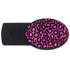 Cheetah Bling Abstract Pattern  4gb Usb Flash Drive (oval) by OCDesignss