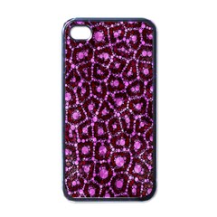 Cheetah Bling Abstract Pattern  Apple Iphone 4 Case (black) by OCDesignss